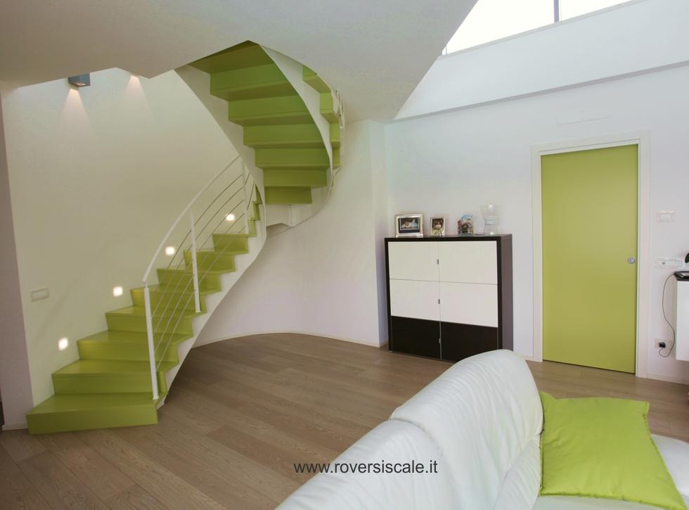 Scale a giorno di design in acciaio e vetro - Scale interni design ...