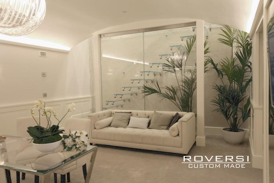 Roversi scale progettazione e realizzazione di scale for Scale in marmo per interni moderne