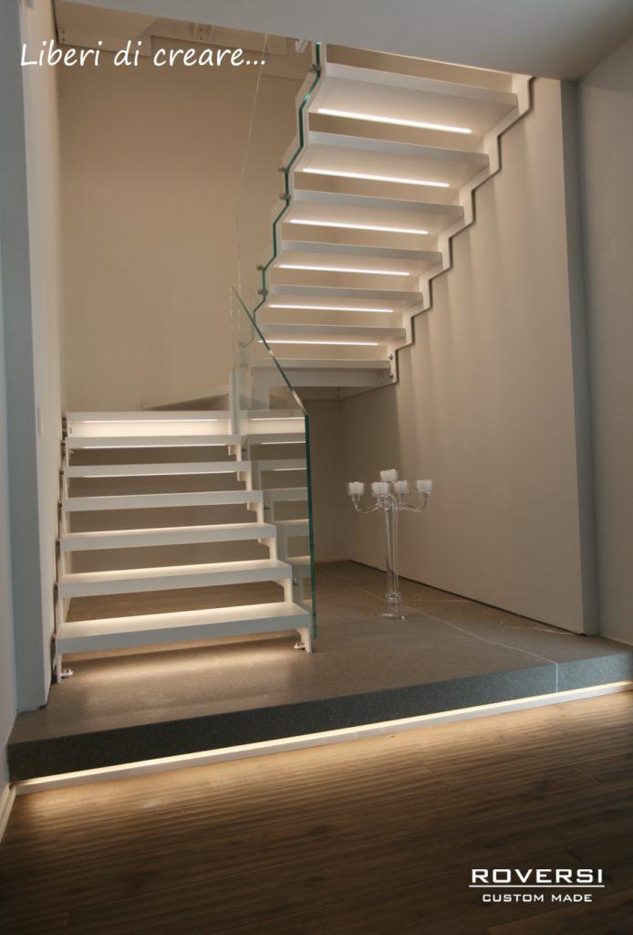 scala a giorno con illuminazione Led