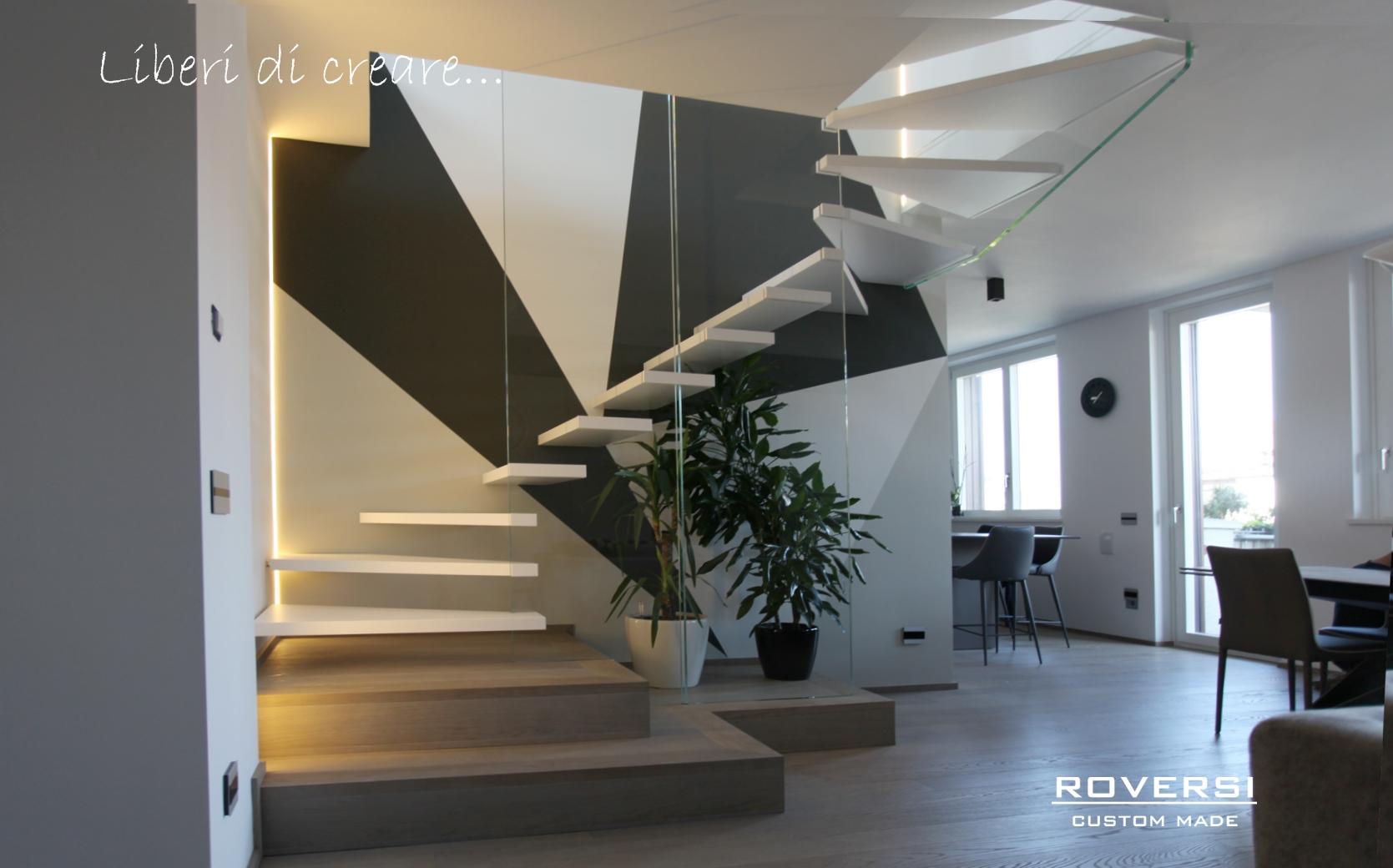 Disegnare Una Scala A Chiocciola scale a sbalzo per interni - progettazione e realizzazione